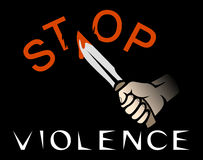 Stop violence banner Stock Photography