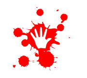 Stop Violence Blood hand print Royalty Free Stock Photography