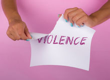 Stop violence Royalty Free Stock Photography