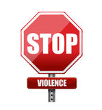 Stop violence illustration design Royalty Free Stock Images