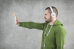 Stop the violence in music Stock Photo