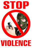 Stop violence poster Royalty Free Stock Image