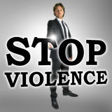 Stop violence sign Stock Photo