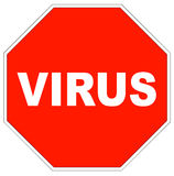 Stop virus sign Royalty Free Stock Photos