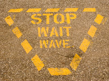 Stop, Wait, Wave Royalty Free Stock Photos