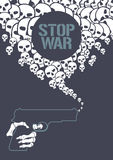 Stop war concept vector illustration Royalty Free Stock Image