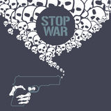 Stop war concept vector illustration Stock Images