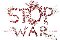 Stop war design on the white background Royalty Free Stock Photography