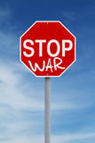 Stop War. A modified stop sign on War Royalty Free Stock Images