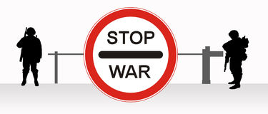 Stop, war. Royalty Free Stock Photography