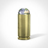 Stop war. Planet earth in a bullet shell Stock Image