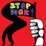 Stop war poster color  Royalty Free Stock Images