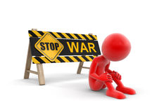 Stop war sign and man Stock Photo
