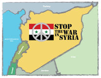Stop the war in Syria Royalty Free Stock Photos