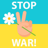 Stop War. Ukraine. Peace. Royalty Free Stock Photos