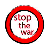 Stop the war. Vector illustration stop no war Stock Image