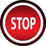 Stop. Warning. Royalty Free Stock Photos
