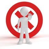 Stop, Warning Stock Image