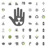 Stop warning icon. Eco and Alternative Energy vector icon set. Energy source electricity power resource set vector. Stop warning icon. Eco and Alternative Stock Photos