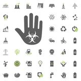 Stop warning icon. Eco and Alternative Energy vector icon set. Energy source electricity power resource set vector. Stop warning icon. Eco and Alternative Royalty Free Stock Photos
