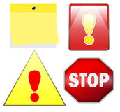 Stop and warning signs. A set of illustrations of stop and warning signs Royalty Free Stock Image