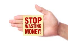 Free Stop Wasting Money Stock Photos - 51011563