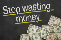 Stop wasting money Royalty Free Stock Image