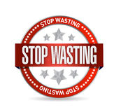 Stop wasting seal illustration design Stock Photos