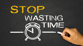 Stop wasting time Stock Photography