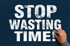 Stop Wasting Time Royalty Free Stock Photography