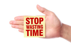 Stop Wasting Time Royalty Free Stock Photo