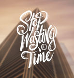 Stop wasting time vector. Digitally generated Stop wasting time vector Royalty Free Stock Images