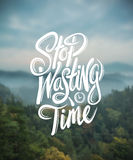 Stop wasting time vector. Digitally generated Stop wasting time vector Stock Photo