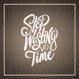 Stop wasting time vector Royalty Free Stock Photos