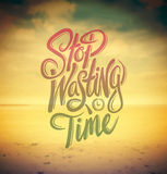 Stop wasting time vector Royalty Free Stock Photography