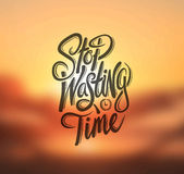 Stop wasting time vector. Digitally generated Stop wasting time vector Royalty Free Stock Photo