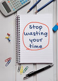 Stop wasting your time word Stock Photo