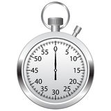 Stop watch. On white background Royalty Free Stock Images