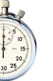 Stop-watch. Fragment of hand mechanical stop-watch against white background Stock Images