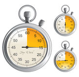 Stop watch. Icons over white Royalty Free Stock Photography