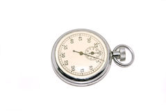 Stop watch. Isolated on a white background Stock Images