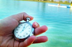 Stop-watch. Measure time royalty free stock images