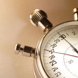 Stop watch. Mechanical stop watch in sepia Royalty Free Stock Image