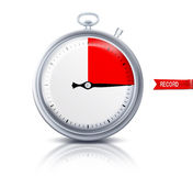 Stop watch. Or timer with record fixed on it Royalty Free Stock Photo
