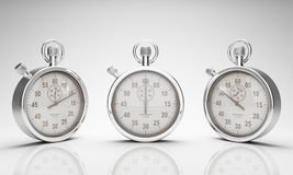 Stop Watch with Clipping Path for Dials and Watch Stock Image
