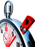 Stop watch. 3D illustration of an stop watch Royalty Free Stock Image