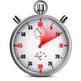 Stop watch. 3D illustration of a stop watch Royalty Free Stock Images