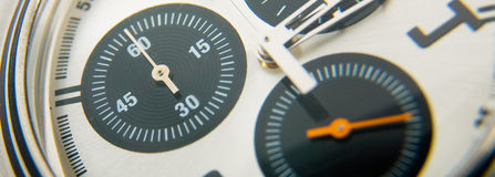 Stop watch detail. Macro of stop watch detail Stock Photography