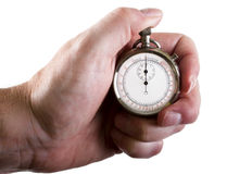 Stop-watch in a hand royalty free stock images