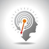 Stop Watch in Human Head - Conceptual Vector Stock Image